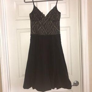 BCBG Paris black mid length cocktail gown